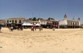 Spanien_Andalusien_Rocio_Wallfahrt_Pfingsten_Pferde_Platz_Panorama