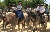 Spanien_Andalusien_Rocio_Wallfahrt_Pfingsten_Pferde_Reitergruppe