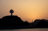 Oman-Muskat_Matrah-Hafen_Weihrauchspender_Sunset