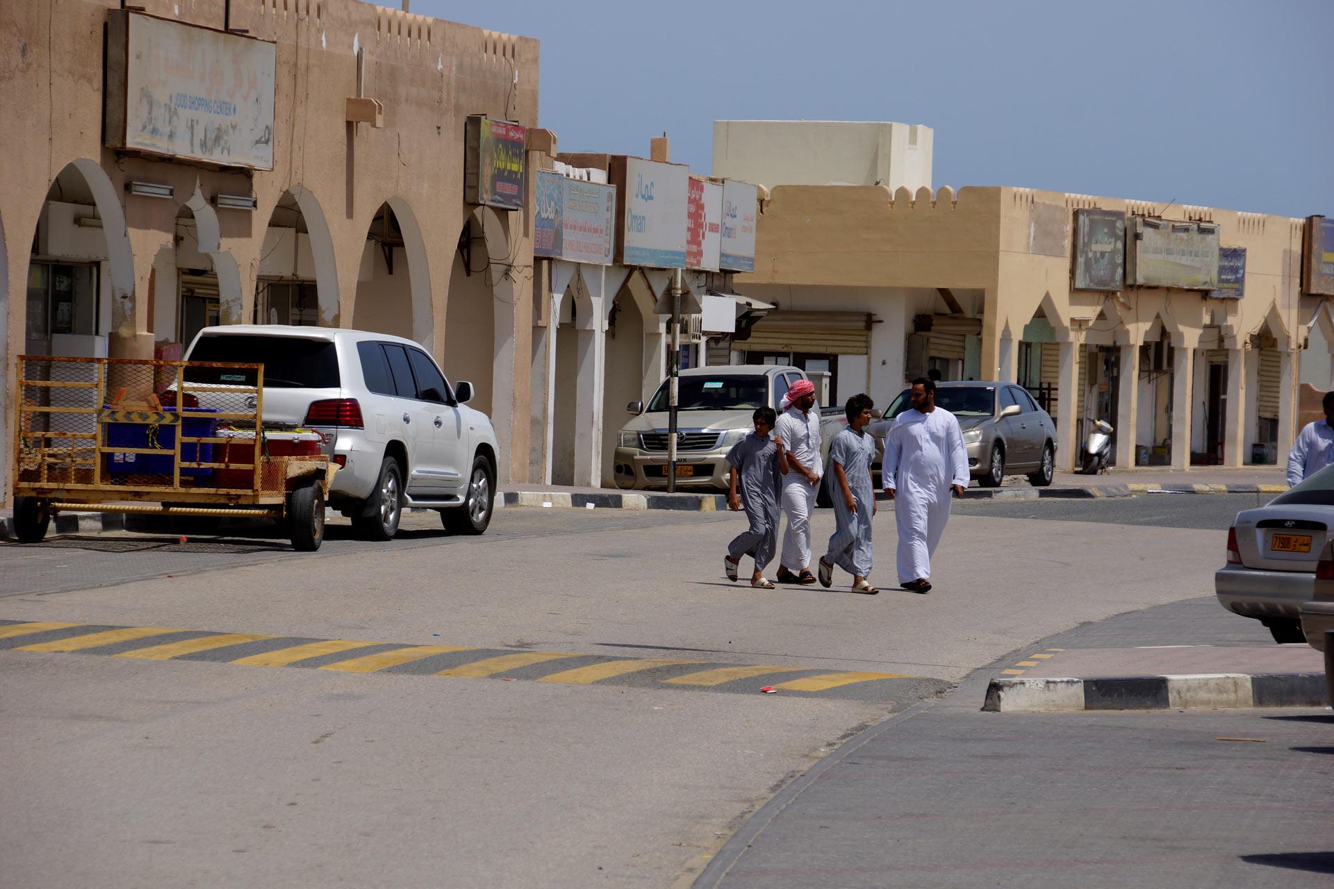 Oman, Masirah-Island Hilf-Strasse-Arkaden