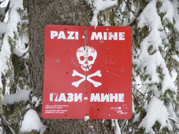 BABANOVAC Plateau, Berg VLASIC, BLATNICA bei Travnic: Skitour in einem Minengebiet