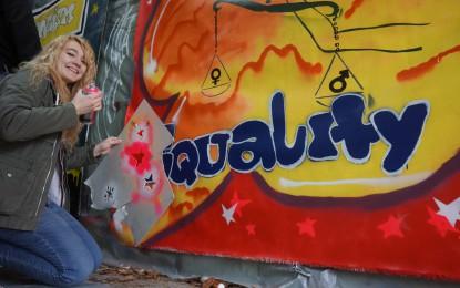Öffentlichkeitsarbeit: Mit Graffiti Europa besser verstehen – Streetart bridges Europe (2013 – 2015)
