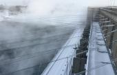 RealschuleTraunreut_Pasch-BerufUmwelt_Irkutsk-Wasserkraftwerk-aussen-wasserdampf