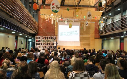 Stop Talking – Start Planting: Umweltaktivist Felix Finkbeiner an der Realschule Traunreut