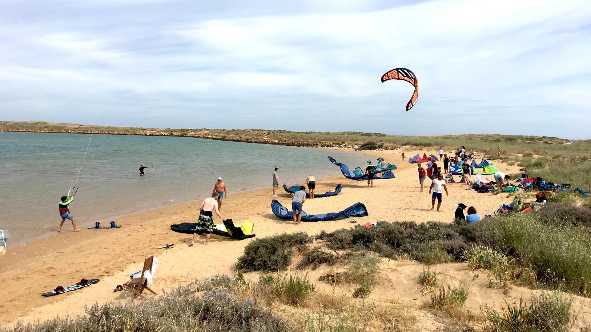 Algarve, Lagos, LAGOA DE ALVOR: Thermik Kiten – wenn Algarve dann Alvor