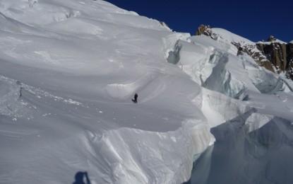 Mont Blanc, CHAMONIX: 27 Km lange Gletscherabfahrt im VALLEE BLANCHE